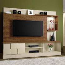 Estante Home para TV até 65 Polegadas 1 Porta e LED Dinamarca Mavaular Off White/Cânion -