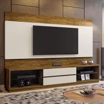 Estante Home para TV até 65 Polegadas 2 Gavetas Paris Plus Siena Móveis Canion/Off White -