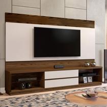 Estante Home para TV até 65 Polegadas 2 Gavetas Paris Plus Siena Móveis Canion Soft/Off White -