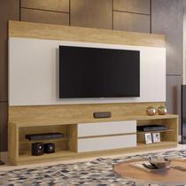 Estante Home para TV até 65 Polegadas 2 Gavetas Paris Plus Siena Móveis Damasco/Off White -