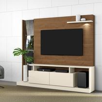 Estante Home para TV até 65 Polegadas 2 Portas Dubai Belaflex Off White/Nature -