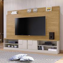 Estante Home para TV até 65 Polegadas 2 Portas Zeus Mavaular Damasco/Off White -