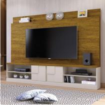 Estante Home para TV até 65 Polegadas 2 Portas Zeus Mavaular Mel/Off White -