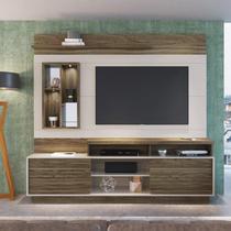 Estante Home para TV até 65 Polegadas Aqua Capuccino Móveis Avelã/Off-White -
