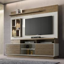 Estante Home para TV até 65 Polegadas Atlântida Siena Móveis Avelã/Off-White -