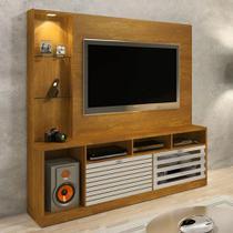 Estante Home Para TV até 65 polegadas Frisare Caramelo/Off White Chf Móveis - Chf moveis