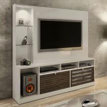 Estante Home Para TV até 65 polegadas Frisare Off White/Ypê Chf Móveis - Chf moveis