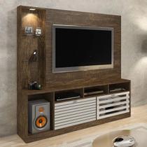 Estante Home Para TV até 65 polegadas Frisare Ypê/Off White Chf Móveis - Chf moveis