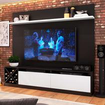 Estante Home para TV até 80 Polegadas Bianca Preto e Branco - Quiditá móveis