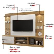 Estante Home para Tv Babilonia com Teto Damasco/Off White - 4762.121 Mavaular