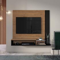 Estante Home Suspenso para TV até 48 Polegadas Londres Belaflex Nature/ Preto Fosco -