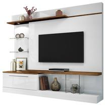 Estante Home Theater Allure Branco Canyon - HB Móveis - Hb moveis