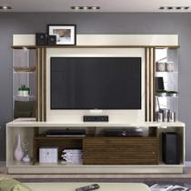 Estante Home Theater (Até 55 Pol.) Madetec Frizz Gold - Off White / Savana