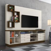 Estante Home Theater (Até 65 Pol.) Madetec Heitor - Off White / Savana