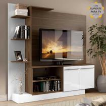 Estante Home Theater com Suporte para TV até 55'' Denver Multimóveis Madeirado/Branco -