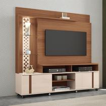 Estante Home Theater HB Móveis Vitral TV Até 55 Pol Nature/Off White