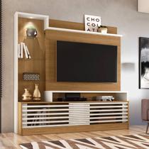 """Estante Home Theater p/ TV 55"""" Madetec Frizz Prime Naturale / Off White -"""