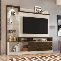 """Estante Home Theater p/ TV 55"""" Madetec Frizz Prime Off White / Savana -"""