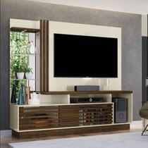 "Estante Home Theater p/ TV 60"" Madetec Frizz Plus Off White / Savana -"