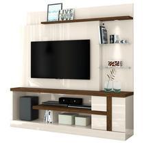 Estante Home Theater Para TV até 55 Pol. Alan Off White/Savana - Madetec -