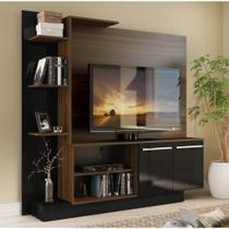 Estante Home Theater para TV até 55 Pol. Denver Multimóveis  Duna Acetinado com preto Brilho -