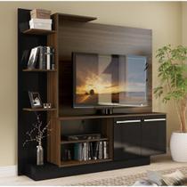Estante Home Theater para TV até 55 Pol. Denver Multimóveis Madeirado/Preto -