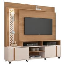 Estante Home Theater Para TV até 55 Pol. Vitral Freijó/Off White - HB Móveis -