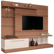 Estante Home Theater Para TV até 60 Pol. Allure Nature/Off White - HB Móveis -