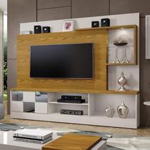Estante Home Theater para TV até 65 Polegadas Dinamarca Espelho Plus Mavaular Off White/Carvalho Ouro -