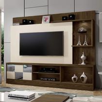 Estante Home Theater para TV até 65 Polegadas Dinamarca Espelho PlusMavaular Canion Soft/Off White -