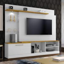 Estante Home Theater para TV até 65 Polegadas Flórida Plus Mavaular Branco AB/Mel -