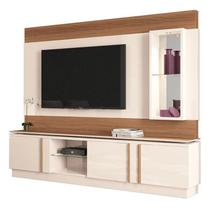 Estante Home Theater Vértice Off White Nature - HB Móveis - Hb moveis