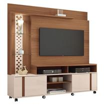 Estante Home Theater Vitral Nature Off White - HB Móveis - Hb moveis