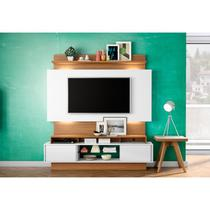 Estante Home Theather para TV com Led TB112L Off White/Freijó - Dalla Costa