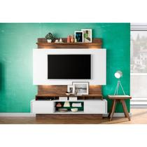 Estante Home Theather para TV com Led TB112L Off White/Nobre - Dalla Costa