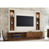 Estante Home Theather para TV com LED TB129L Off White/Nobre - Dalla Costa
