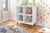 Estante Infantil Organizadora 4 Nichos Branco J&A Móveis -
