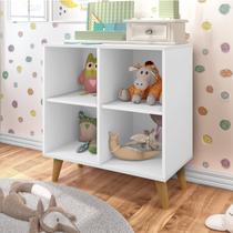 Estante Infantil Organizadora 4 Nichos J&A Móveis Branco -