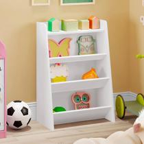 Estante Infantil Porta Brinquedos Teco 4 Prateleiras - Branco - Estrela