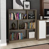 Estante Livreiro Home Office Siena Móveis Avelã TX/Branco TX -