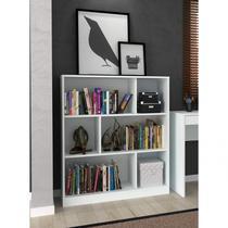 Estante Livreiro para Escritório Home Office Hecol Móveis Branco -