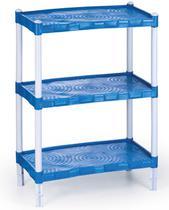 Estante Modular Em Plástico Com 3 Prateleiras Rosa/Azul - Agraplast