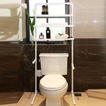 Estante organizador multiuso ajustavel para banheiro vaso sanitario quarto sala arara de roupas multifuncional sapateira kangur -