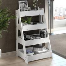 Estante Organizadora Life com 4 Prateleiras - Branco - Be mobiliário