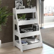 Estante Organizadora Life com 4 Prateleiras Branco - Be mobiliário
