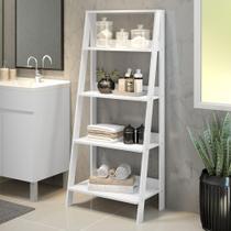 Estante Organizadora Multiuso para Banheiro com 4 Prateleiras Madesa - Branco -