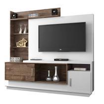 Estante para Home Theater Adustina Branco e Chocolate 178 cm - Chf móveis