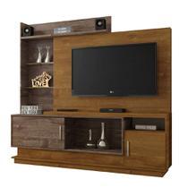 Estante para Home Theater Adustina Caramelo e Chocolate 178 cm - Chf móveis