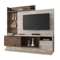 Estante para Home Theater Adustina Champanhe e Chocolate 178 cm - Chf móveis