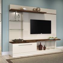 Estante para Home Theater Allure com Led Bege e Deck 210 cm - Hb móveis